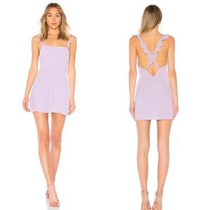 Privacy Please Tulip Mini Dress Lilac Polka Dot
